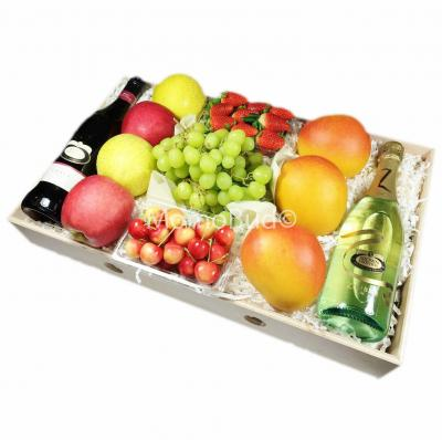 Fruit  Crate with 2 Wine